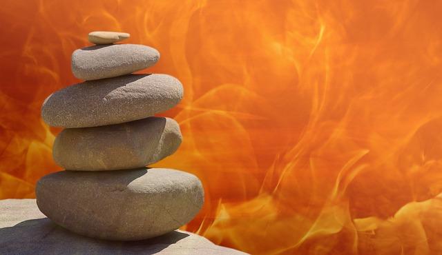 kameny a oheň