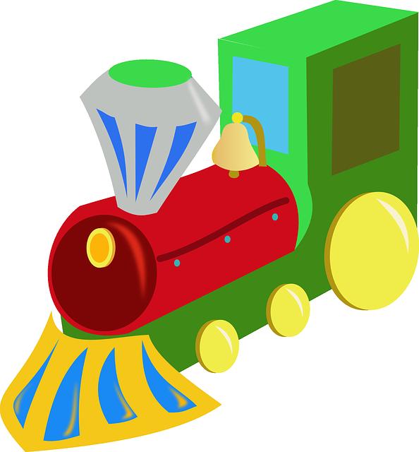lokomotiva, vláček, hračka