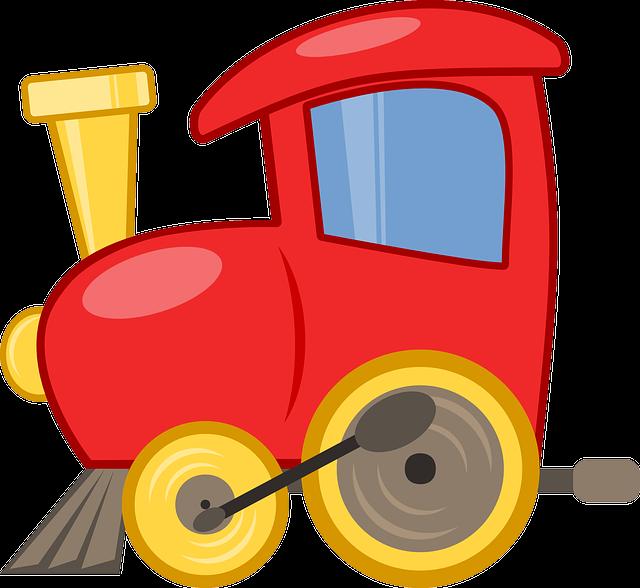 vlak, lokomotiva, hračka